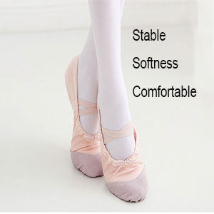 9c061cefafc2f CIOR Ballet Shoes Slippers for Girls Classic Split-Sole Canvas Dance ...