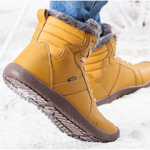 Amazon.com | CIOR Mens Snow Boots Lace up Ankle Sneakers