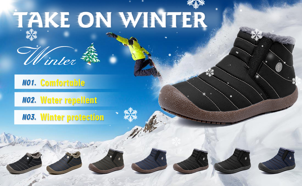 Amazon.com: CIOR Men and Women Snow Boots Fur Lined Winter
