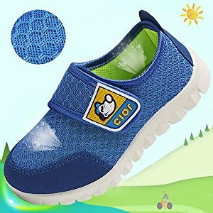 CIOR Kids Mesh Light Weight Sneakers Running Shoe For Boy's Girl's Footwear,Blue02,21