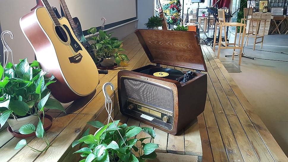 Amazon Com Zasluke Sg30 Box Vinyl Record Player Turntable