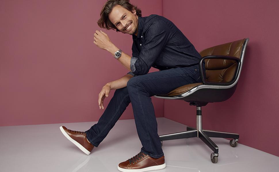 43cc2b14f4912 Amazon.com   Vionic Men's Mott Baldwin Lace-up Sneaker - Leather ...