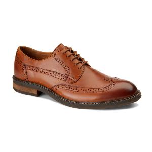Vionic Men's Bruno Light Brown Leather Oxford Dress Shoe
