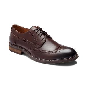Vionic Men's Bruno Brown Leather Oxford Dress Shoe