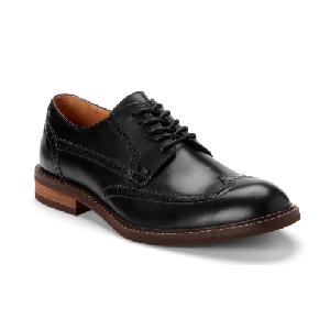 Vionic Men's Bruno Black Leather Oxford Dress Shoe
