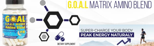 GOAL MATRIX Amino Acid Blend PM - Turn Back Time With This Anti Aging Lean  Muscle Growth Booster and