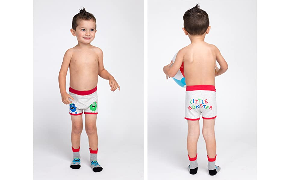 Ez Undeez Boys Boxer Briefs Toddler Training Underwear Easy Pull Up Handles