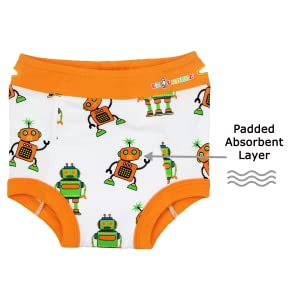 Ez Undeez Baby Boys Toddler Potty Training Pants with Padded Layer
