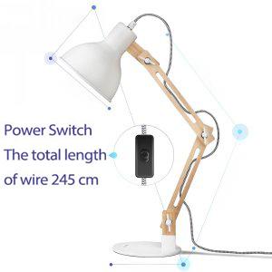 Amazon Com Tomons Dl1001w Wood Swing Arm Desk Designer