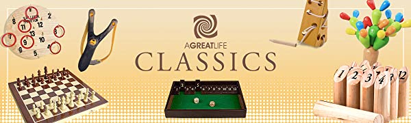 classics chess throwing game hooky slingshot wood cheese molkky sabras cactus shut the box