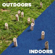 indoor outdoors all weather wooden throwing game competition