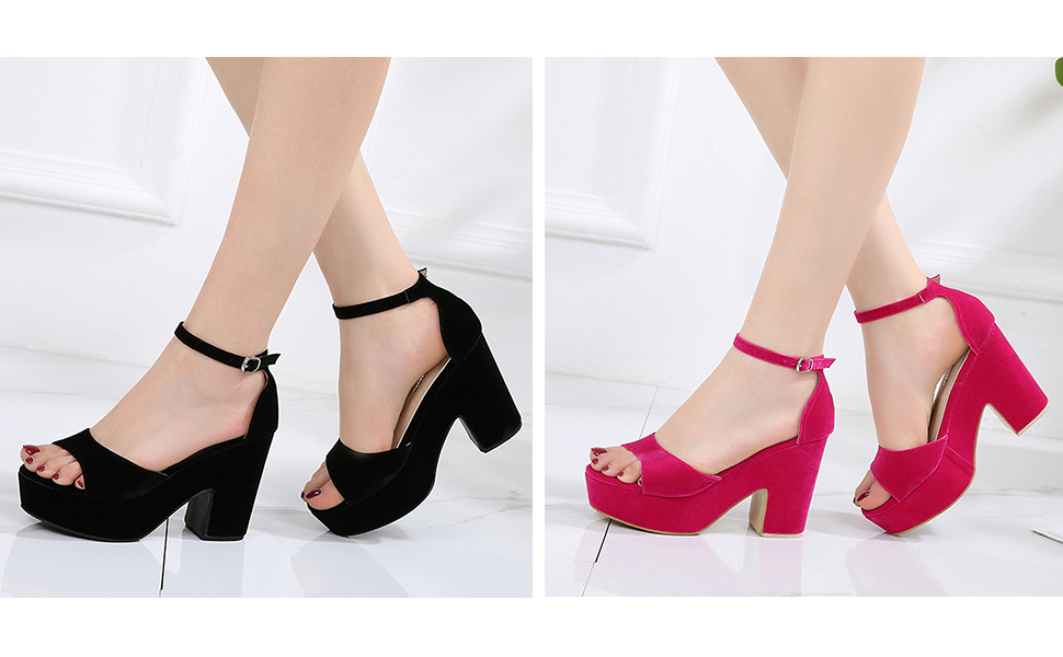 6673afc431c Women s Ankle Strap Heels Sandals Peep Toe Stiletto Pumps Party Dress Shoes  · Classic Studded Strappy Pumps Rivets High Heels Stiletto Sandals T-Strap  Shoes ...