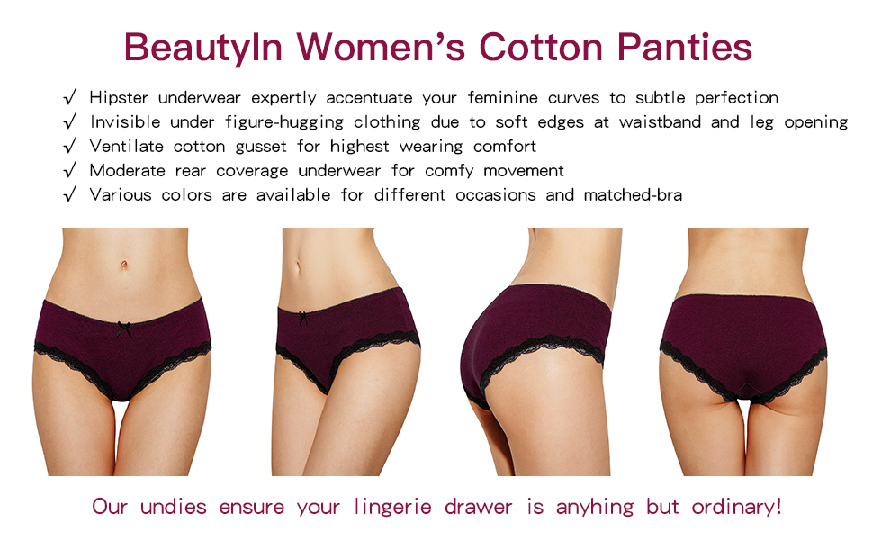 3c6c1413707 cotton panties for women. underwear for womens. panties pack for womens