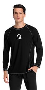 mens swim shirt active tee
