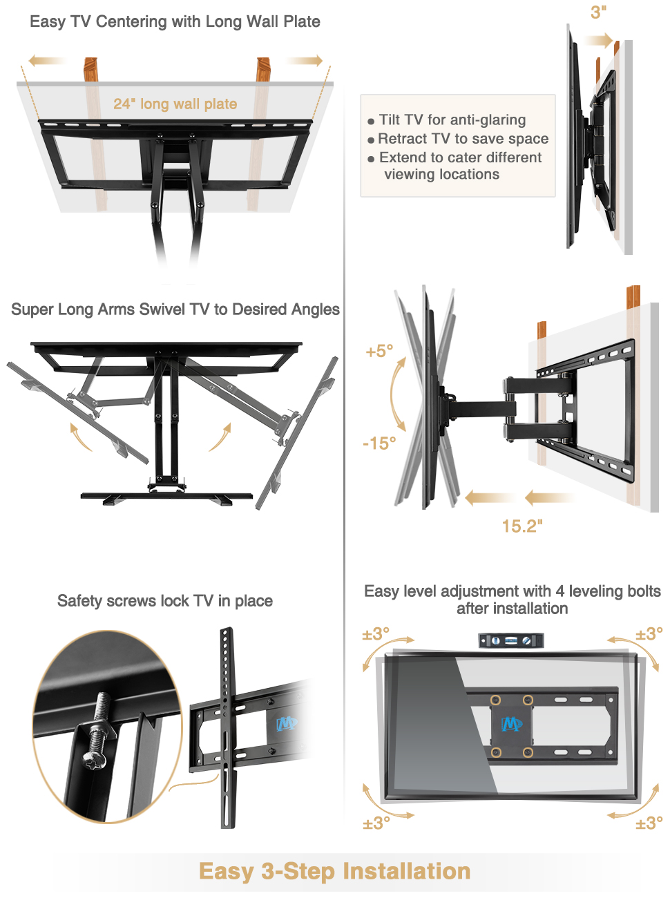 Mounting Dream Full Motion Tv Wall Mount Bracket With 55 Samsung Wiring Diagram