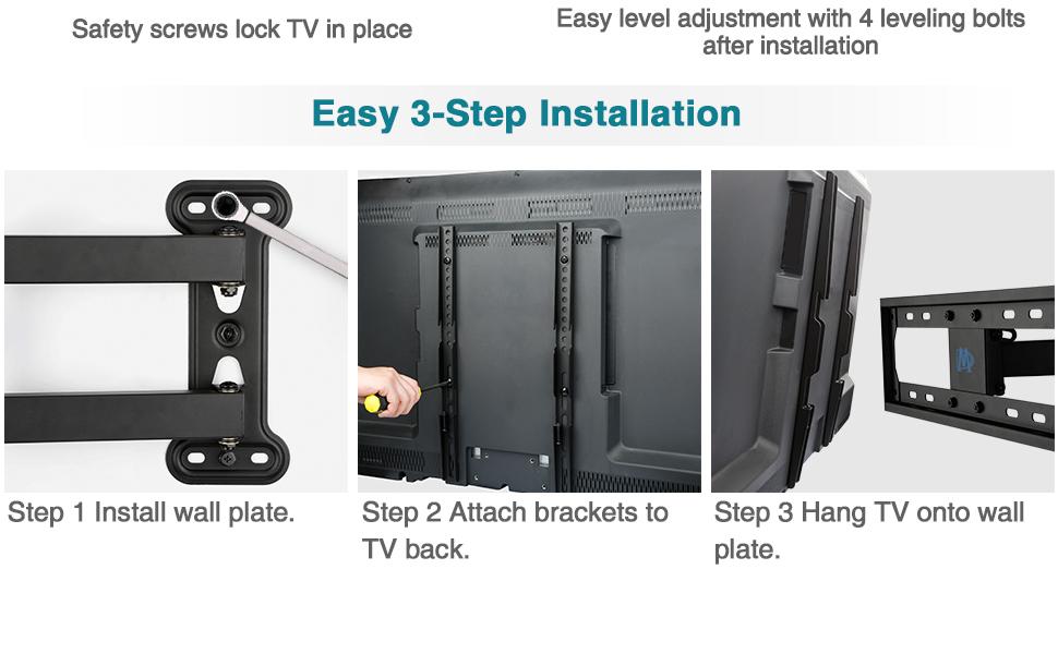 55 inch TV mount full motion