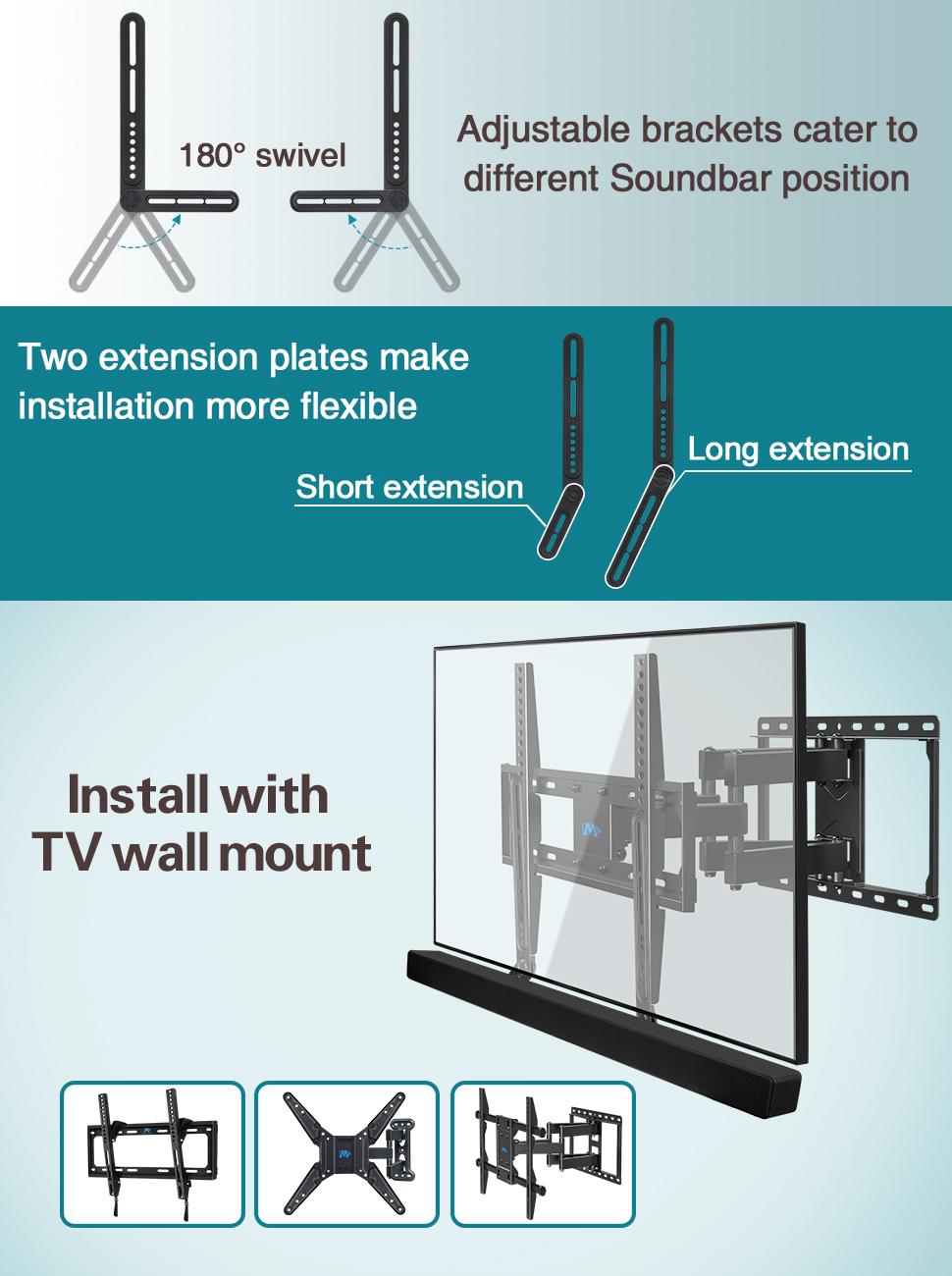Mounting Dream Md5421 Sound Bar Bracket Fits Most Of Soundbar Wiring Diagram Mount