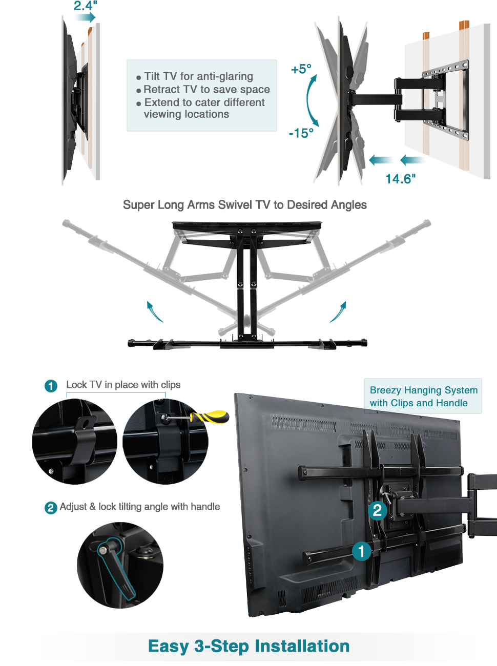 Mounting Dream Full Motion Tv Wall Mount Bracket For 42 Multi Room Distribution System On Wiring Diagram Read More