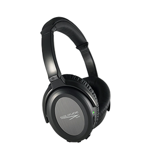 Ultra Comfortable Active Noise Cancelling Wireless Headphones, Solitude WX1 Premium Wireless Over-Ear Headset with Microphone utilizes Dual-Drivers ...
