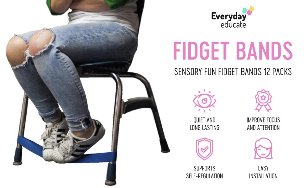 Sensory Foot Chair Band Fidget Kick Resistance Bounce Kids Stimulation Band