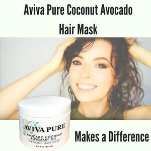 Amazon Com Organic Coconut Avocado Oil Hair Mask For Dry Damaged
