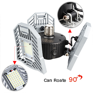 LED Motion Activated Ceiling Lights - Adjustable Overhead High Intensity Mining