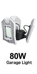 Led Shop Lights for Garage, LED Garage Lighting for Workshop Basement Warehouse