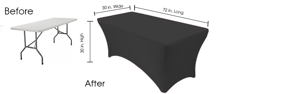 Spandex 6 ft. table covers