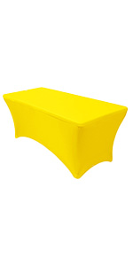Spandex yellow table cover