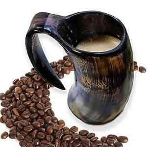 Genuine Viking Drinking Horn Mug Tankard handcrafted and polished finished