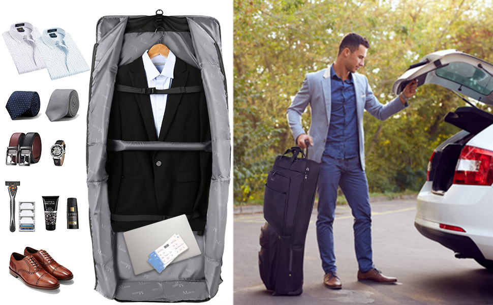 travel suit garment bag for men