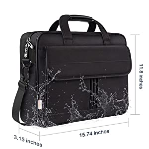 Water resistant 15.6 inch laptop bag