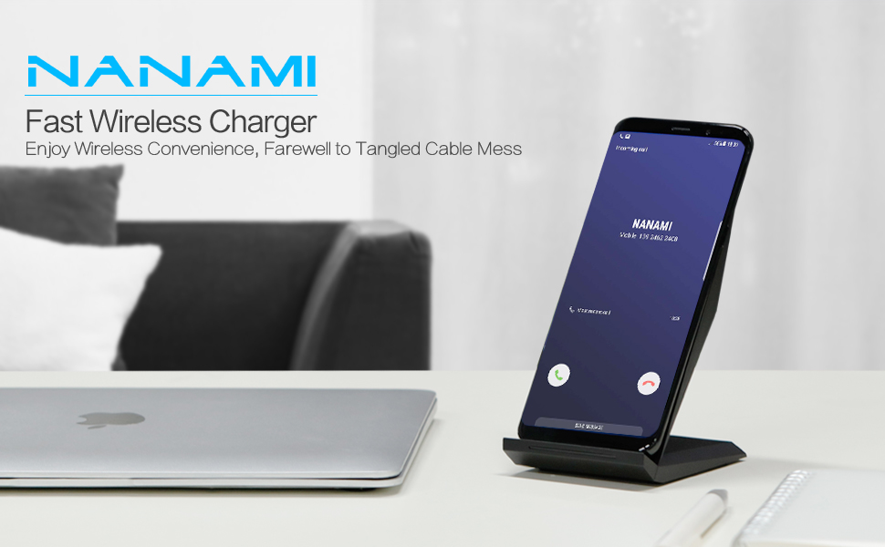 fast wireless charger nanami qi certified. Black Bedroom Furniture Sets. Home Design Ideas