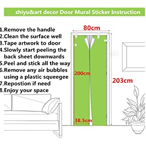 3D Door Stickers Decor Door Decal Door Mural Removable Vinyl Door Wall Mural Door Wallpaper for Home Decor 30.3x78.7 (Waterfall)