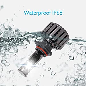9005 hb3 led bulbs waterproof ip68
