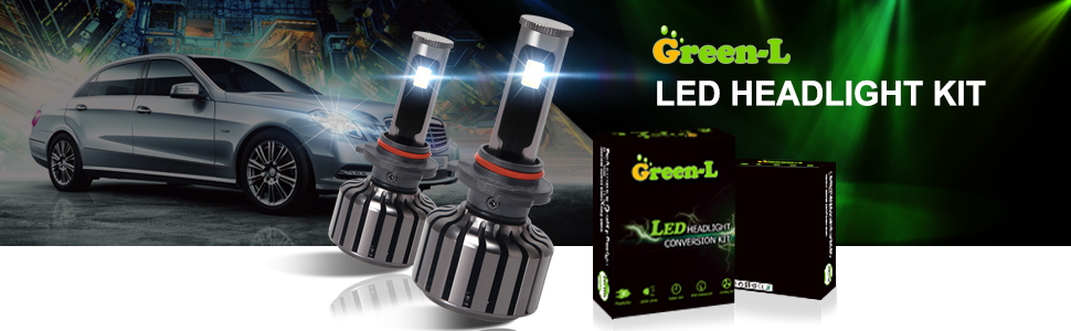 9005 hb3 led headlight green-l led headlight kit
