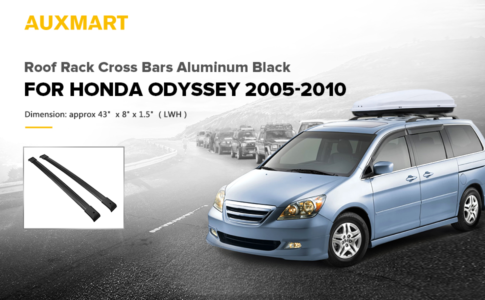 auxmart roof rack cross bars fit for honda odyssey oe style 2005 2006 2007 2008 2009. Black Bedroom Furniture Sets. Home Design Ideas