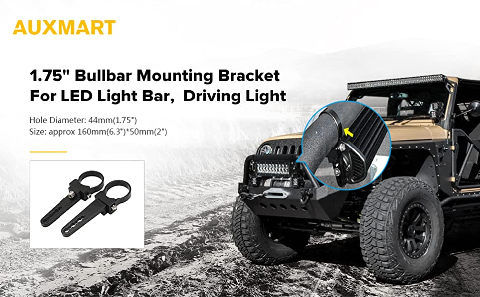 Amazon auxmart tube clamps mounting brackets for led light bar auxmart 175 inch bullbar nudge bar mounting bracket tube clamp for led light bar aloadofball Image collections