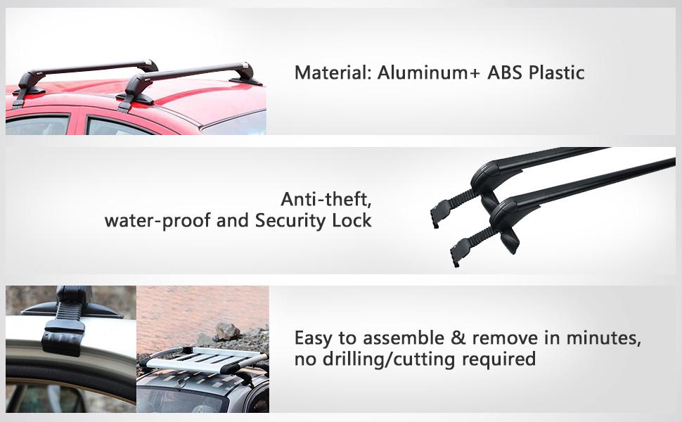 Amazon Com Auxmart Universal Roof Rack Cross Bars With Anti Theft