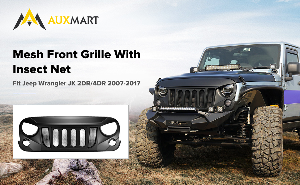 Amazon auxmart front grill beast grille with mesh insert for product description freerunsca Gallery