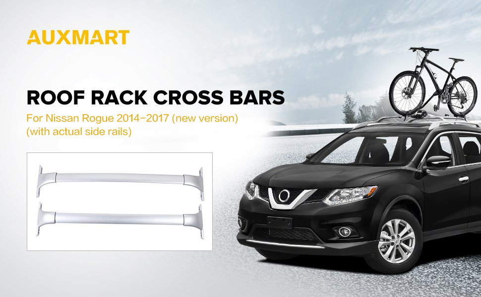 AUXMART Roof Rack Cross Bars For Nissan Rogue 2014 2017 (new Version, US  Make)