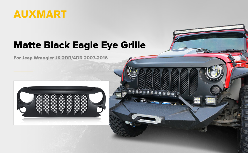 Amazon.com: AUXMART Eagle Eye Grille Beast Grille Grid Grill W ...