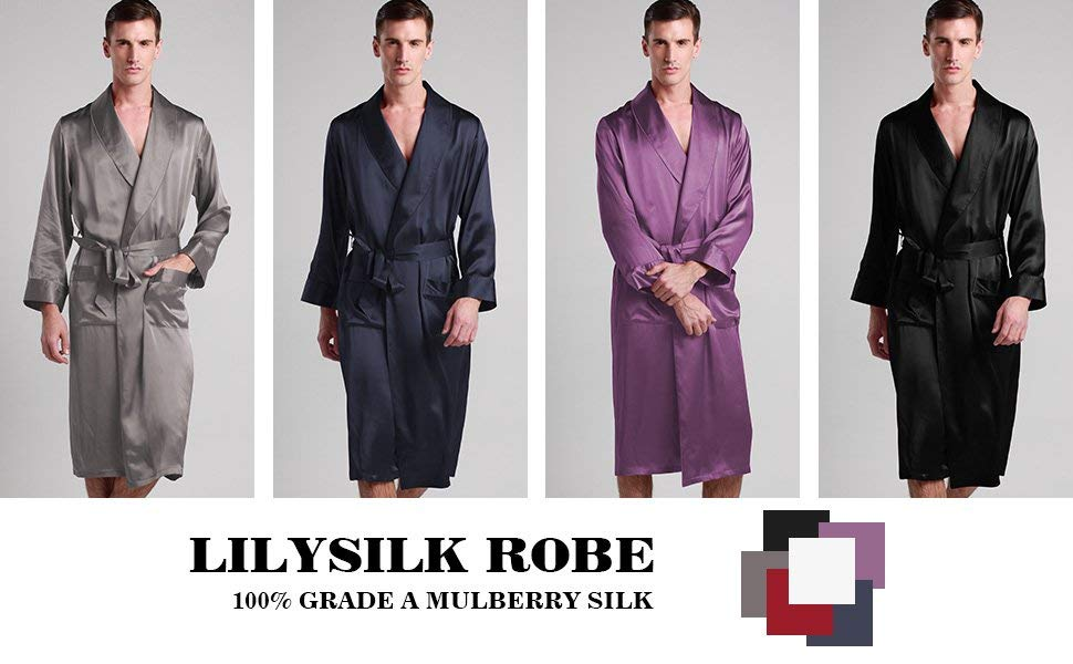 man robe silk