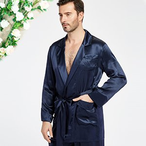 18f947a285 LilySilk Silk Pajamas Set for Men Summer 22 Momme Most Comfortable ...