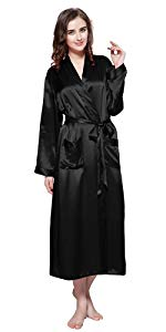 ... long silk robes for women