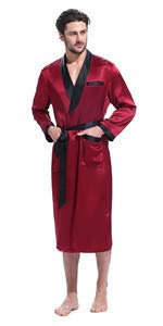 ... red silk robe ...