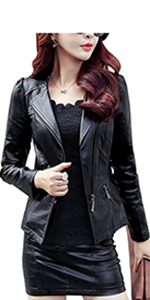 Tanming Women S Removable Hooded Faux Leather Jackets At Amazon