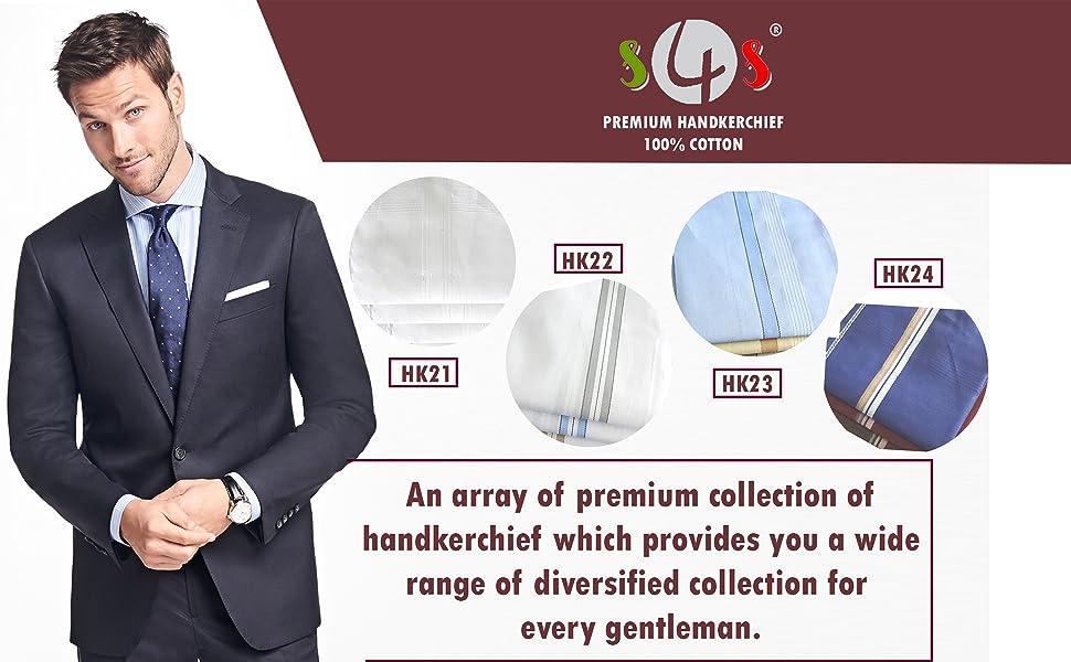 PACK OF 12 Pcs Men Pocket Square Handkerchief 100/% Cotton Solid WHITE Color