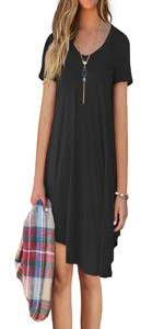 Short Sleeve Casual T-Shirt Dress