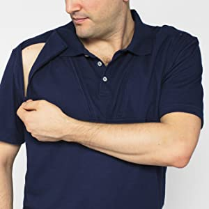 care+wear caring accessible clothing comfortable treatment access chest port access